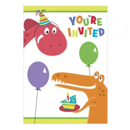 Geburtstags-Einladung mit Dino-Motiv