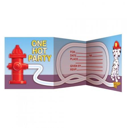 Geburtstagseinladung mit Feuerwehr-Motto für Kinder