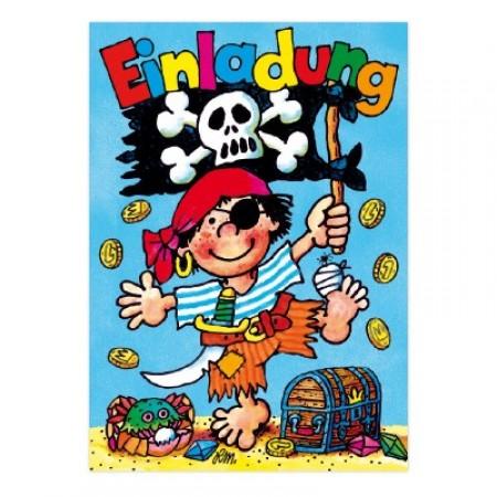 Einladungskarten Pit Planke. Geburtstagseinladung Mit Kleinem Piraten