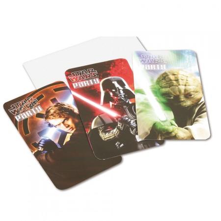 Star Wars Party-Einladung mit Darth Vader und Yoda