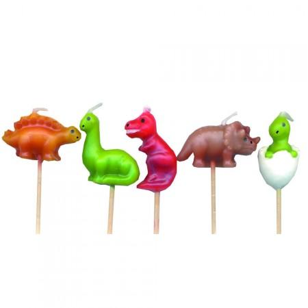 Dinosaurier als kleine Kerzen