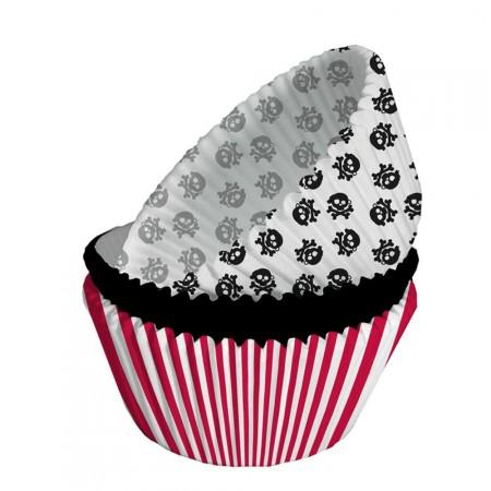 Muffinförmchen mit Piraten-Motiv