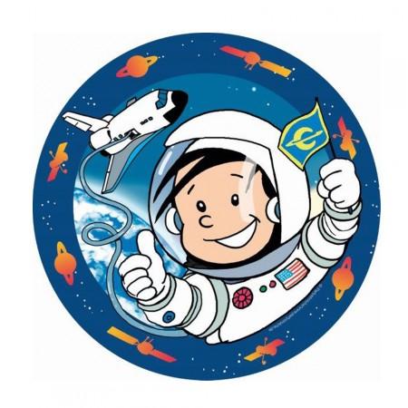 Kinder-Pappteller mit kleinem Astronauten