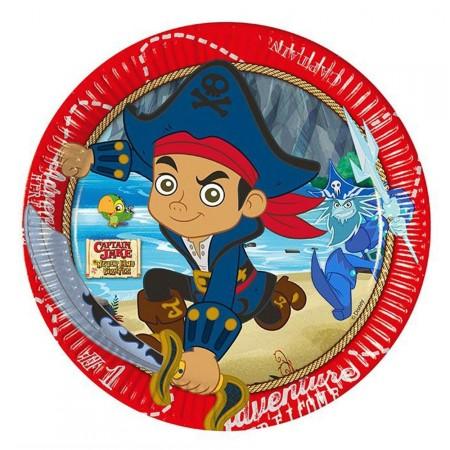 Pappteller mit Jake und die Nimmerland-Piraten