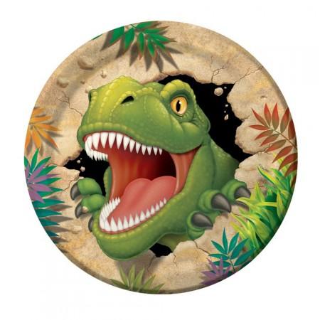 Dino-Party-Pappteller mit Dinosauriern
