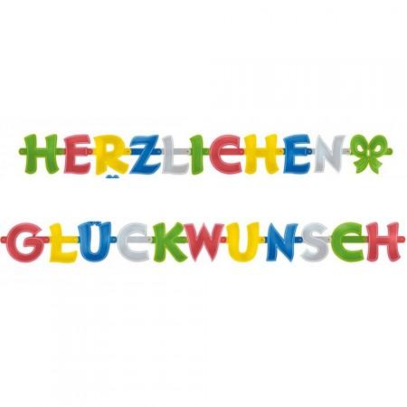 Bunte Herzlichen Glückwunsch Buchstaben-Girlande