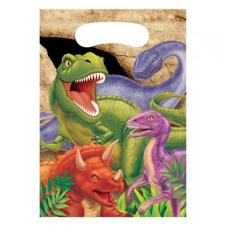 Dino-Party-Tütchen mit Dinosauriern