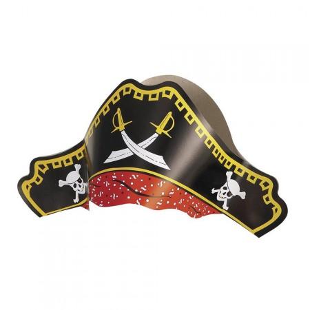 Partyhut im Piraten-Stil aus Pappe für Kinder