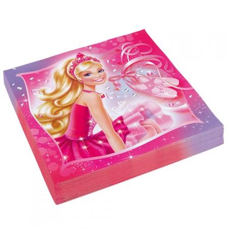 Servietten mit Barbie Pink Shoes