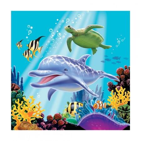 Servietten mit Meerestieren