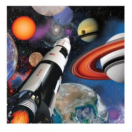 Servietten mit Weltraumparty-Motiv