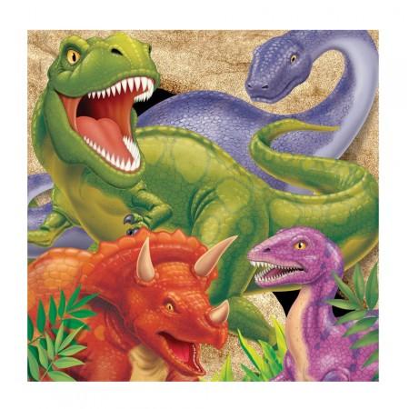Dino-Party-Tischdecke mit Dinosauriern