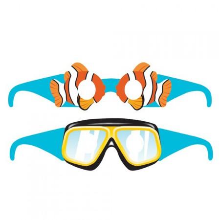 Unterwasserbrillen aus Pappe für Kinder