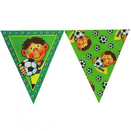 Wimpelkette mit kleinem Fußballspieler
