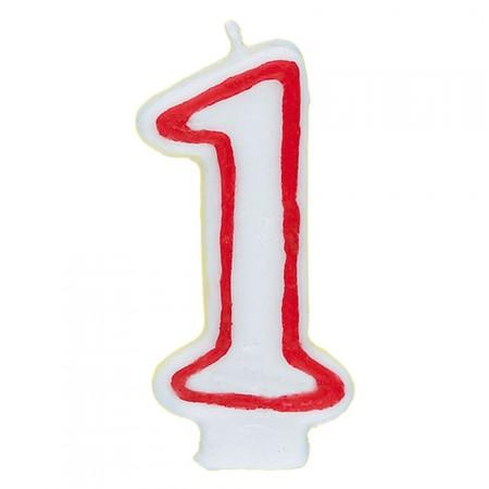 Zahl 1 als Geburtstags-Kerze