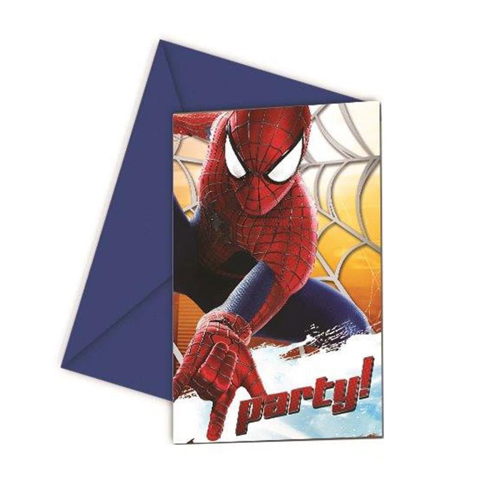 spannende spiderman-einladungskarten, Einladungsentwurf
