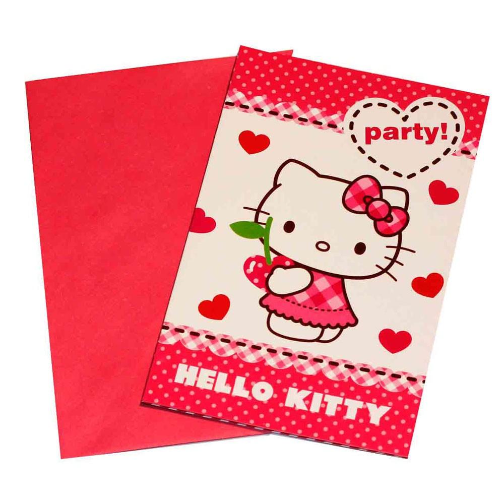 Elegant Einladungskarten Hello Kitty