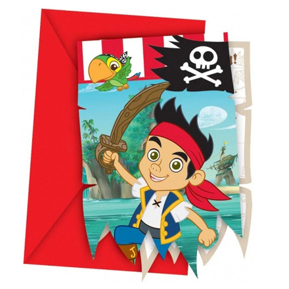 Amazing Einladungskarten Jake Und Die Nimmerland Piraten #8: Einladungskarten Nimmerland-Piraten