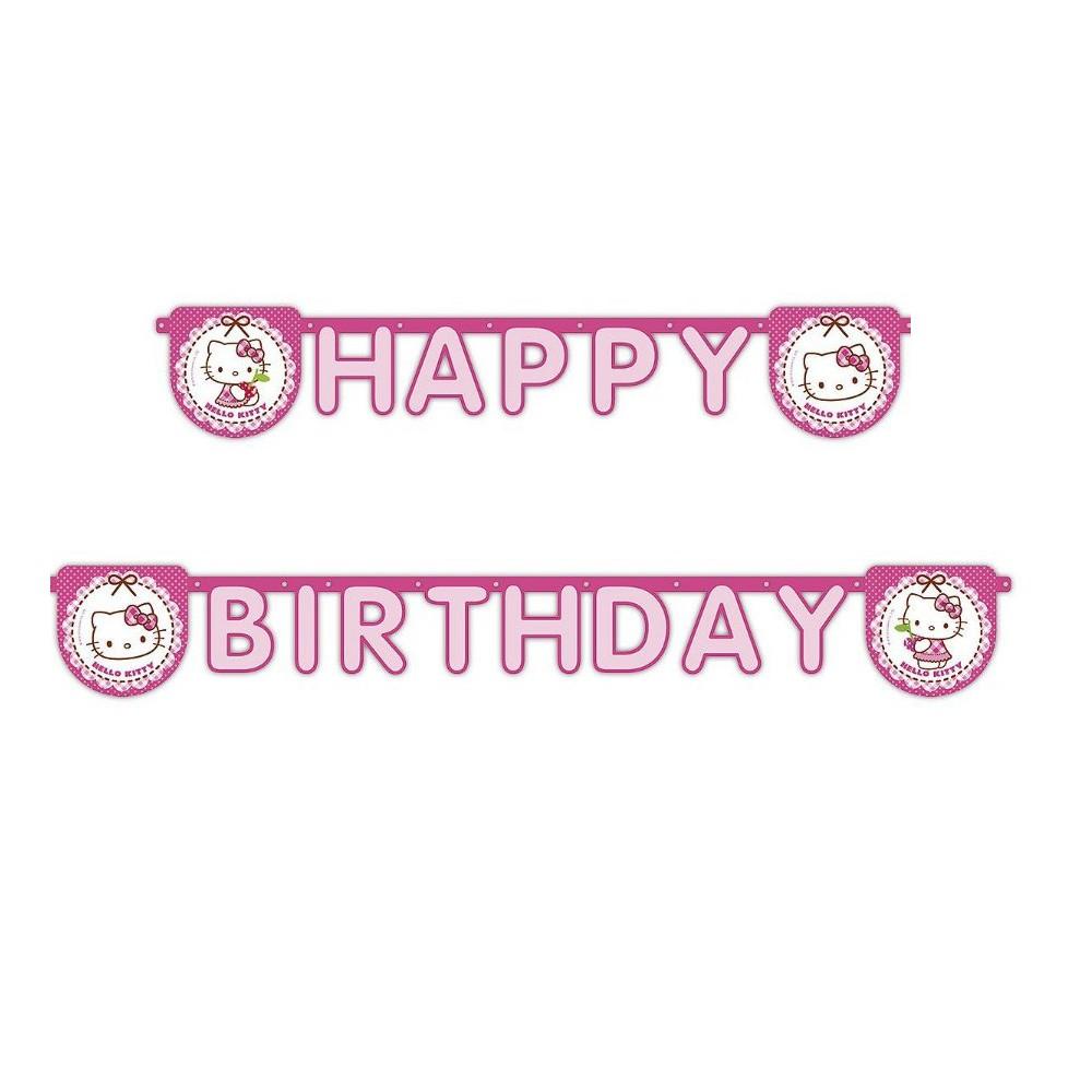 Happy Birthday Girlande Mit Hello Kitty Motiv
