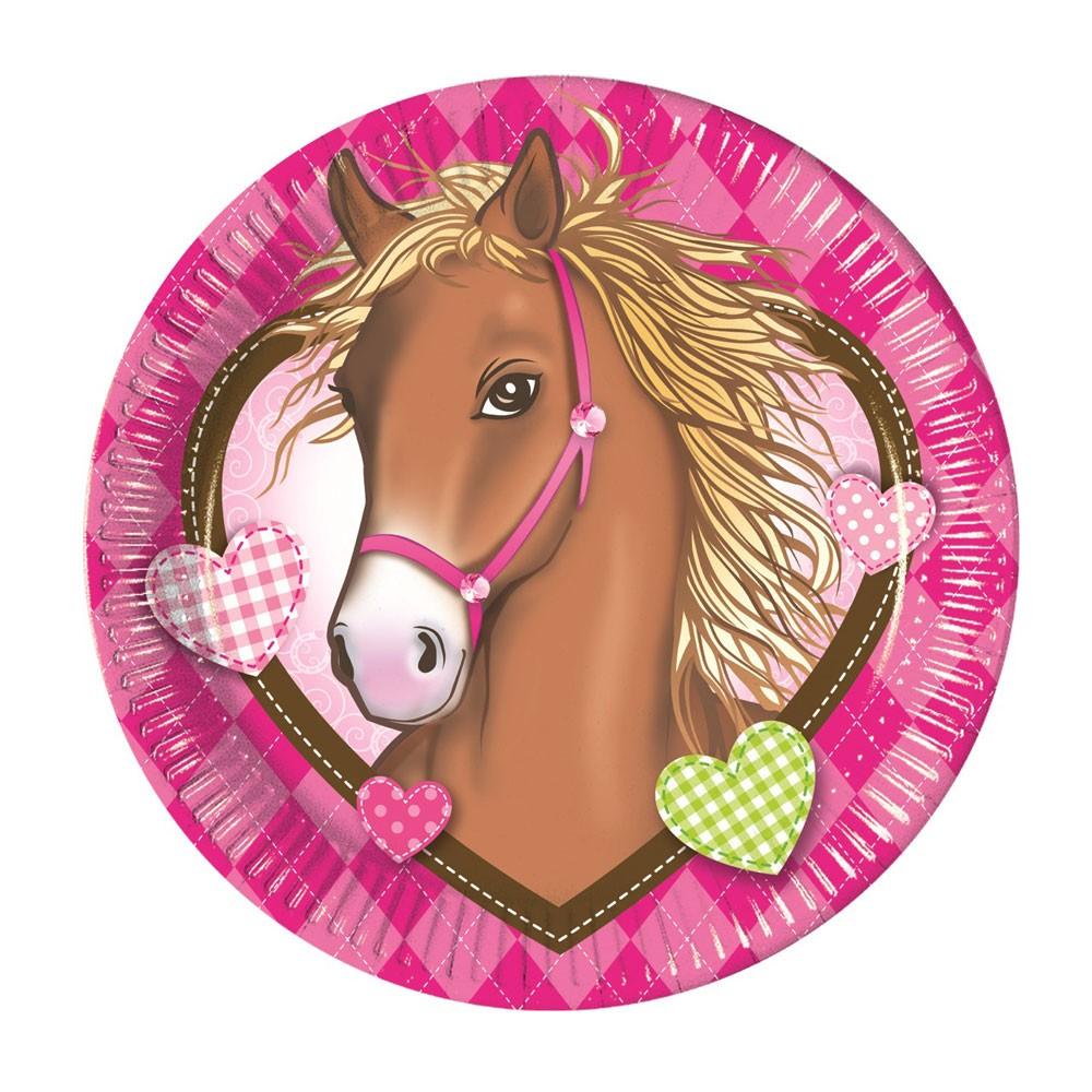 Pappteller Mit Pferde Motiv