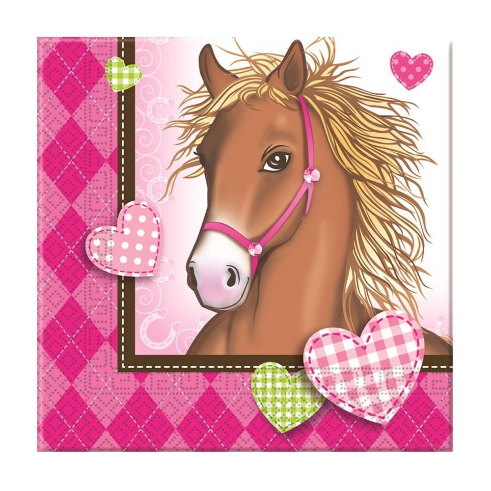 Servietten Mit Pferde Motiv