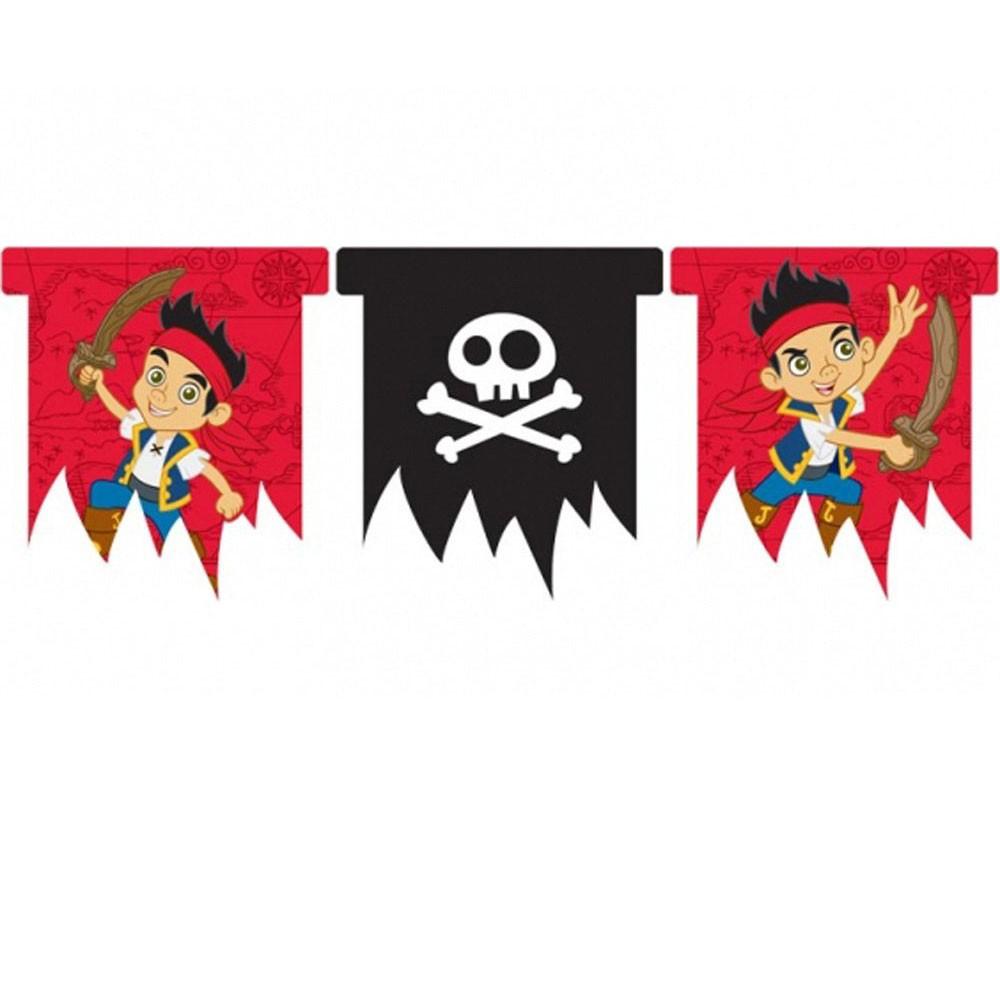 Wimpelkette Nimmerland Piraten
