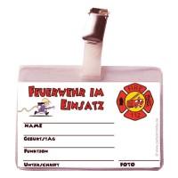 Spielzeug-Feuerwehr-Ausweis mit Clip