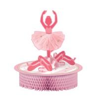 Pinkfarbene Ballerina als Tischaufsteller
