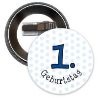 Button für 1. Geburtstag in Blau