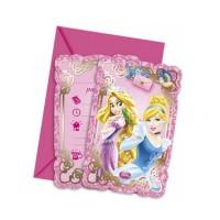 Geburtstag-Einladungskarten mit den Disney Prinzessinnen