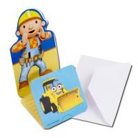 Einladungskarten mit Bob der Baumeister