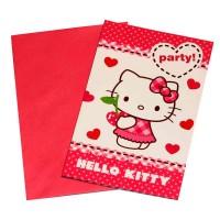 Kindergeburtstag-Einladung mit Hello Kitty