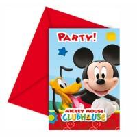 Geburtstags-Einladung mit Micky Maus Wunderhaus