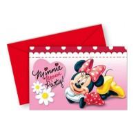 Geburtstags-Einladungskarten mit Minnie Maus-Motiv