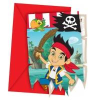 Einladungskarten mit Jake und die Nimmerland-Piraten