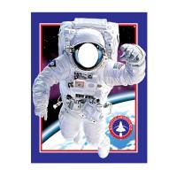 Foto-Banner mit Astronaut im Weltall