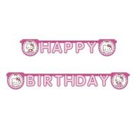 Happy Birthday Girlande mit Hello Kitty-Motiv