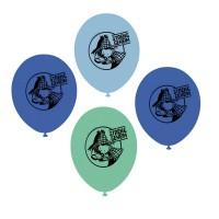 Detektivparty-Luftballons mit kleinem Detektiv