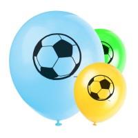 Luftballons mit Fußball-Motiv