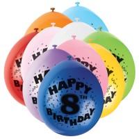 Party-Luftballons für den achten Kindergeburtstag