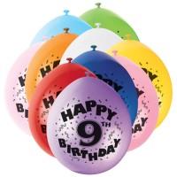 Luftballons mit der Zahl Neun