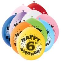 Geburtstagsballons mit der Zahl Sechs