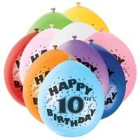 Zahlen-Luftballons für den zehnten Geburtstag