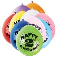 Zahlen-Luftballons für den zweiten Geburtstag