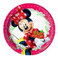 Pappteller mit Minnie Maus-Motiv