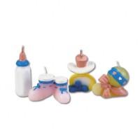 Babyparty-Kerzen mit Schnuller und Babyflasche