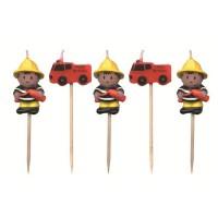 Geburtstagskerzen mit Feuerwehr-Motiven