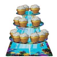 Delfin-Muffinständer aus Pappe