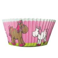 Muffinförmchen mit Pferde-Motiv