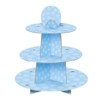 Hellblauer Muffinständer aus Pappe